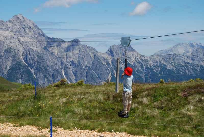 Abenteuerspielplatz am Berg: Gefunden haben wir ihn am Asitz bei der Bergstation