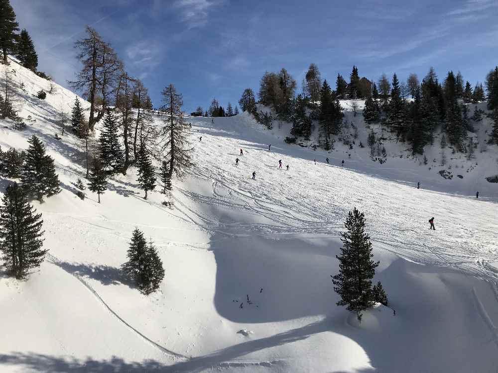 Am Achensee im Pulverschnee skifahren mit Kindern