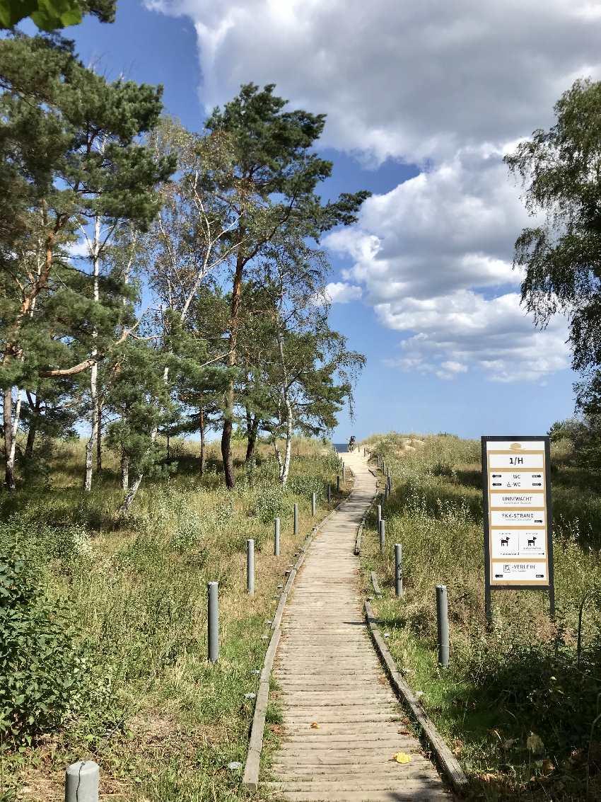 Wunderschöner Strandzugang an die Ostsee bei Ahlbeck