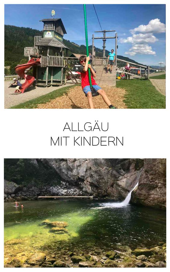 Hitze Ausflug Bayern in Allgäu mit Kindern - Zuerst Hündle Gipfel, dann Buchenegger Wasserfälle, dann Sommerrodelbahn und an den Spielplatz bei der Einkehr