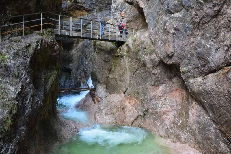 Klamm in Bayern: Die Almbachklamm bei Berchtesgaden