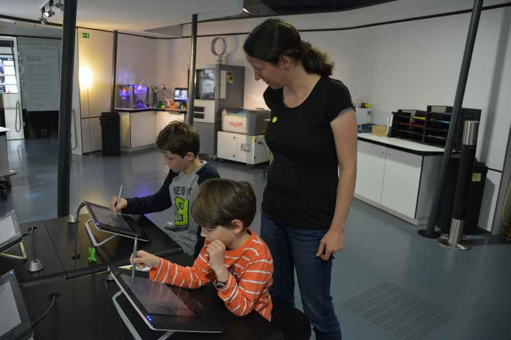 Unser Besuch im Ars Electronica - hier hätten die Kinder auch zwei Tage hintereinander hingehen wollen