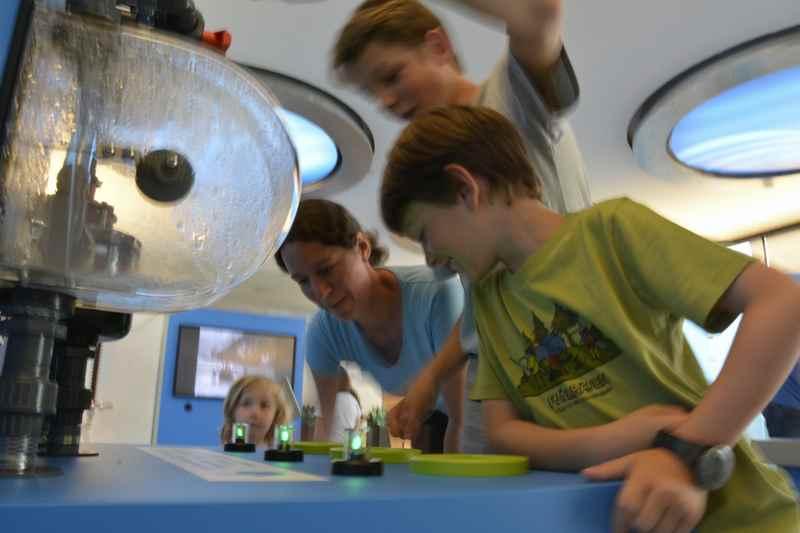 Walchenseekraftwerk Besucherzentrum -  Spannend für Kinder: Sie können selbst experimentieren