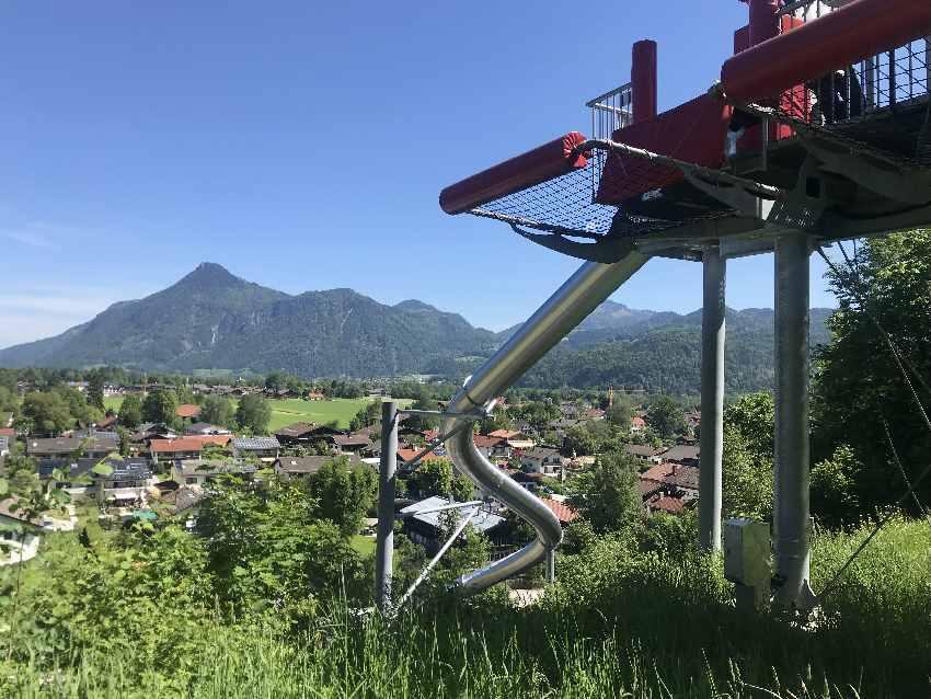 Ausflugsziele Deutschland mit Kindern: Free Fall Rutsche am Hocheck in Oberaudorf