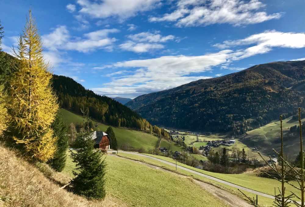 Das ist der Ausblick am Anfang unserer Wanderung mit Kindern in Kärnten