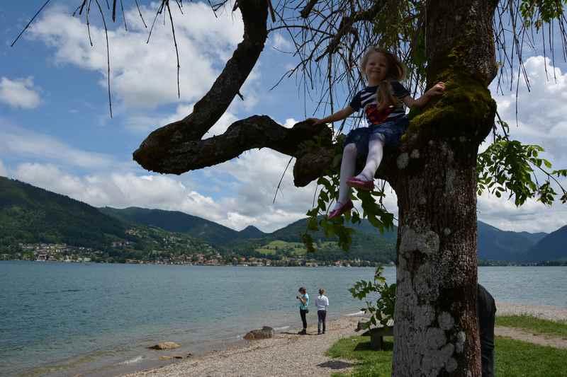In Bad Wiessee beginnt unsere Wanderung mit Kindern und Kinderwagen