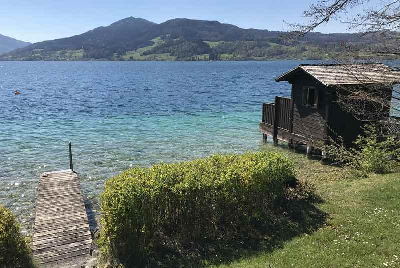Ein privater Badestrand im Familienurlaub am Attersee