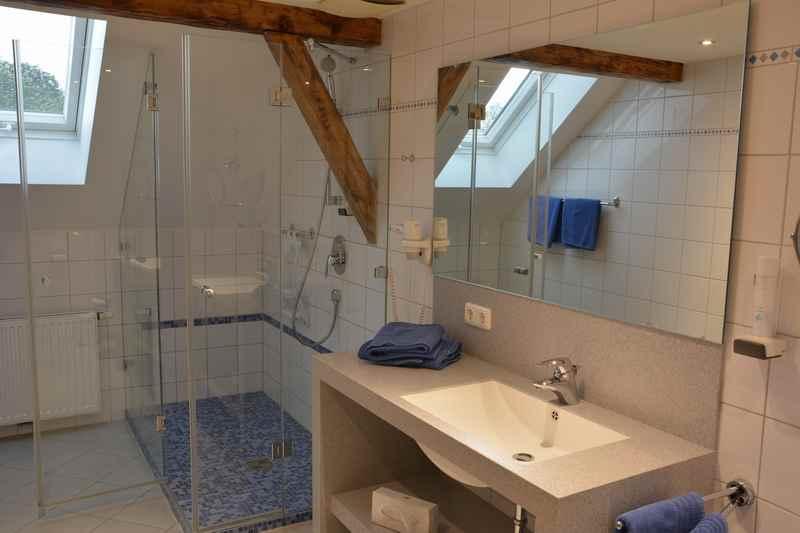 Das Bad im Familienhotel in Bayern