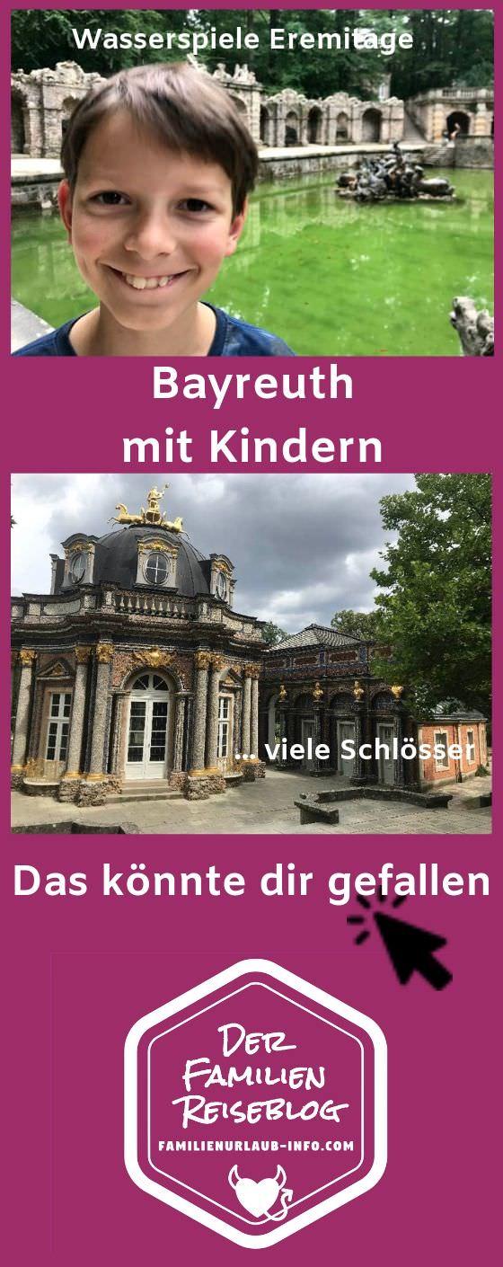 Merk dir gleich mit diesem Pin unsere Tipps für Bayreuth mit Kindern! So kannst du auch deinen Familienurlaub Bayreuth gut planen.