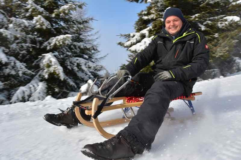 Er hat das Bergaufrodeln auf der Tonnerhütte etabliert: Reinhard Ferner junior