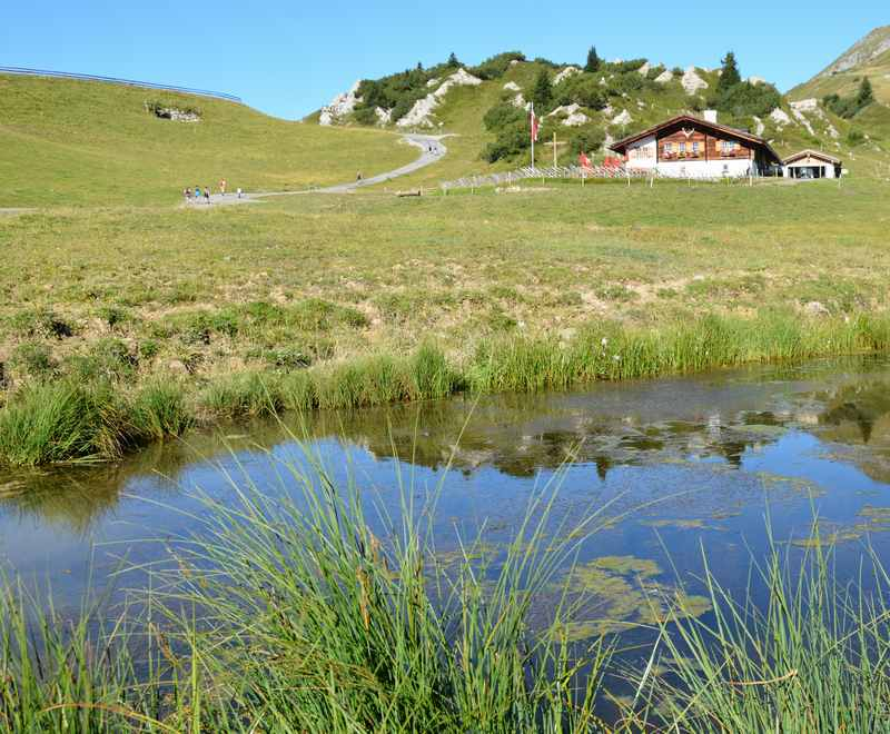Leichte Bergsee Wanderung mit Kindern in Vorarlberg