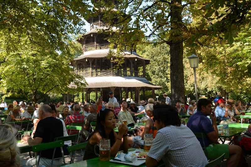 Unser Ziel:  Chinesischer Turm München mit Kindern