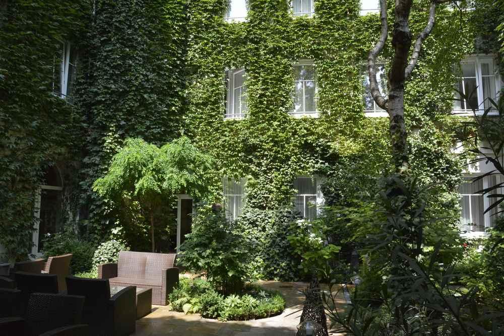 Grüner Innenhof mitten in Wien - das Boutiquehotel Stadthalle