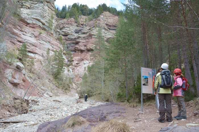 Der Einstieg in die Bletterbachschlucht Südtirol, bei Aldein