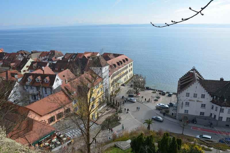 Ausflugsziele am Bodensee mit Kindern - hier Meersburg mit dem Schloss