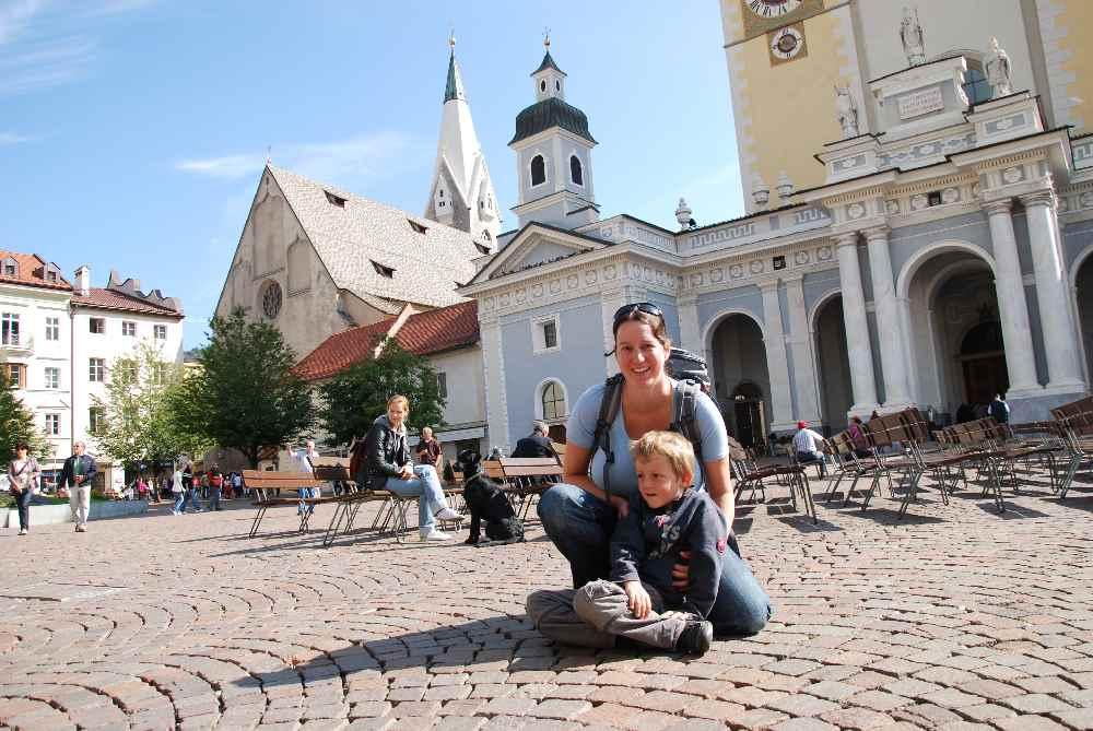 Brixen ist eines der Ausflugsziele in Südtirol mit Kindern