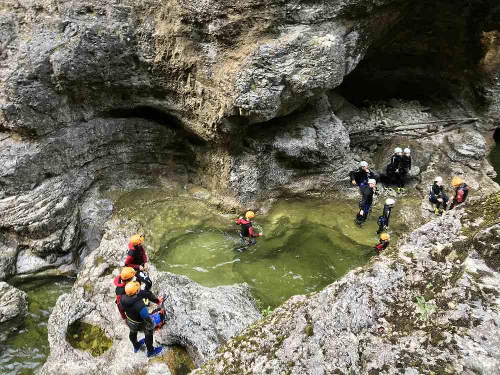 Ausflugsziele Salzburg mit Kindern - Canyoning in der Almbachklamm