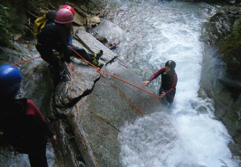 Canyoning mit Kindern ab 6 Jahren im Nationalpark Hohe Tauern in Österreich