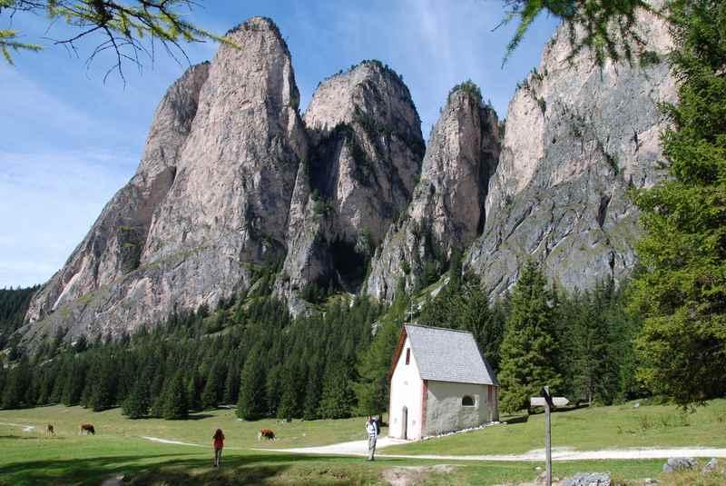 Im Chedultal wandern Wolkenstein, Gröden mit Kindern