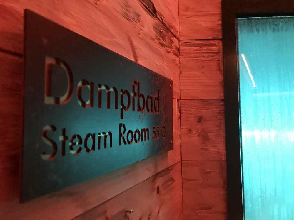 Dampfbad gibt es natürlich auch im Familienhotel Dachsteinkönig