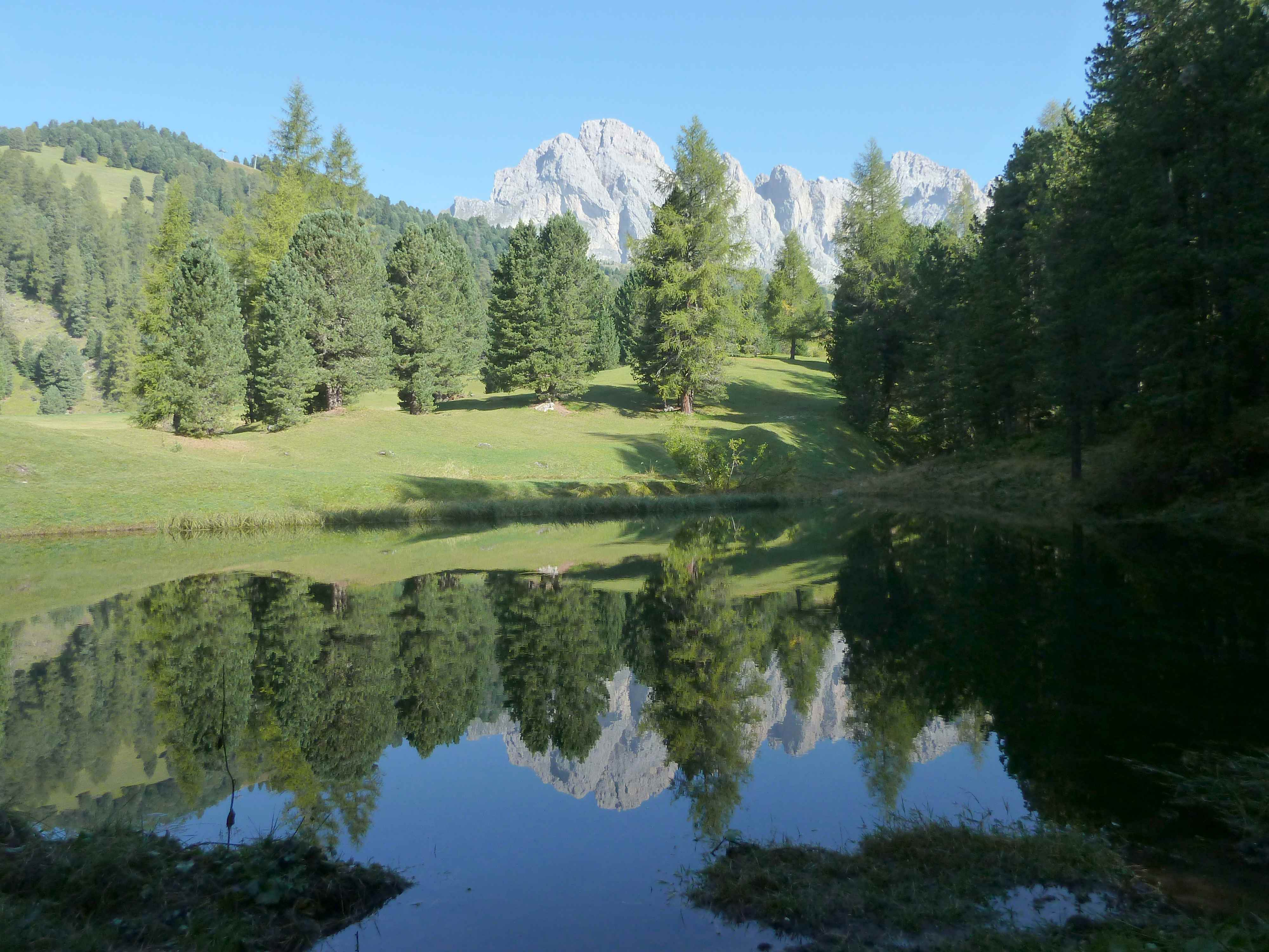 In den Dolomiten wandern mit Kindern bei Gröden