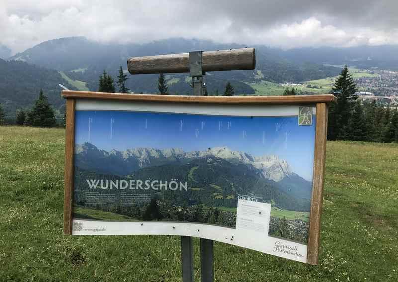 So schön wäre die Aussicht auf das Wettersteingebirge rund um die Eckhütte bei schönem Wetter