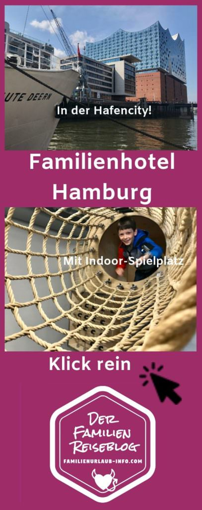 Wenn du noch nicht gleich starten kannst: Merk dir mit dem Pin auf Pinterest dieses tolle Familienhotel Hamburg