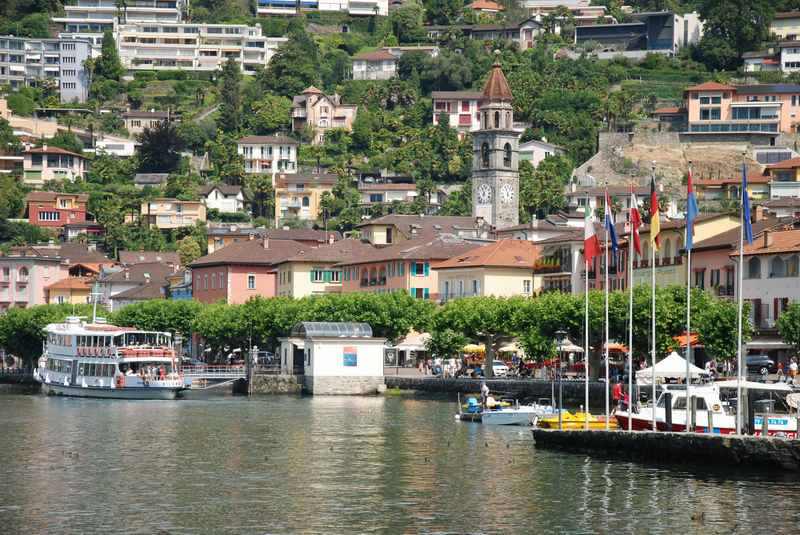 Familienurlaub Ascona mit Kindern - der kleine Ort am Lago Maggiore mit dem Hafen