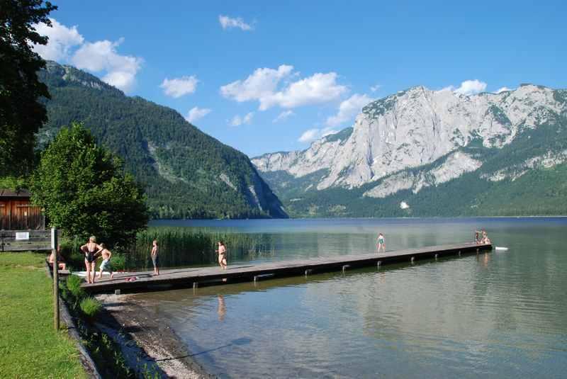 Familienurlaub Salzkammergut: Baden in Bad Aussee mit Kindern