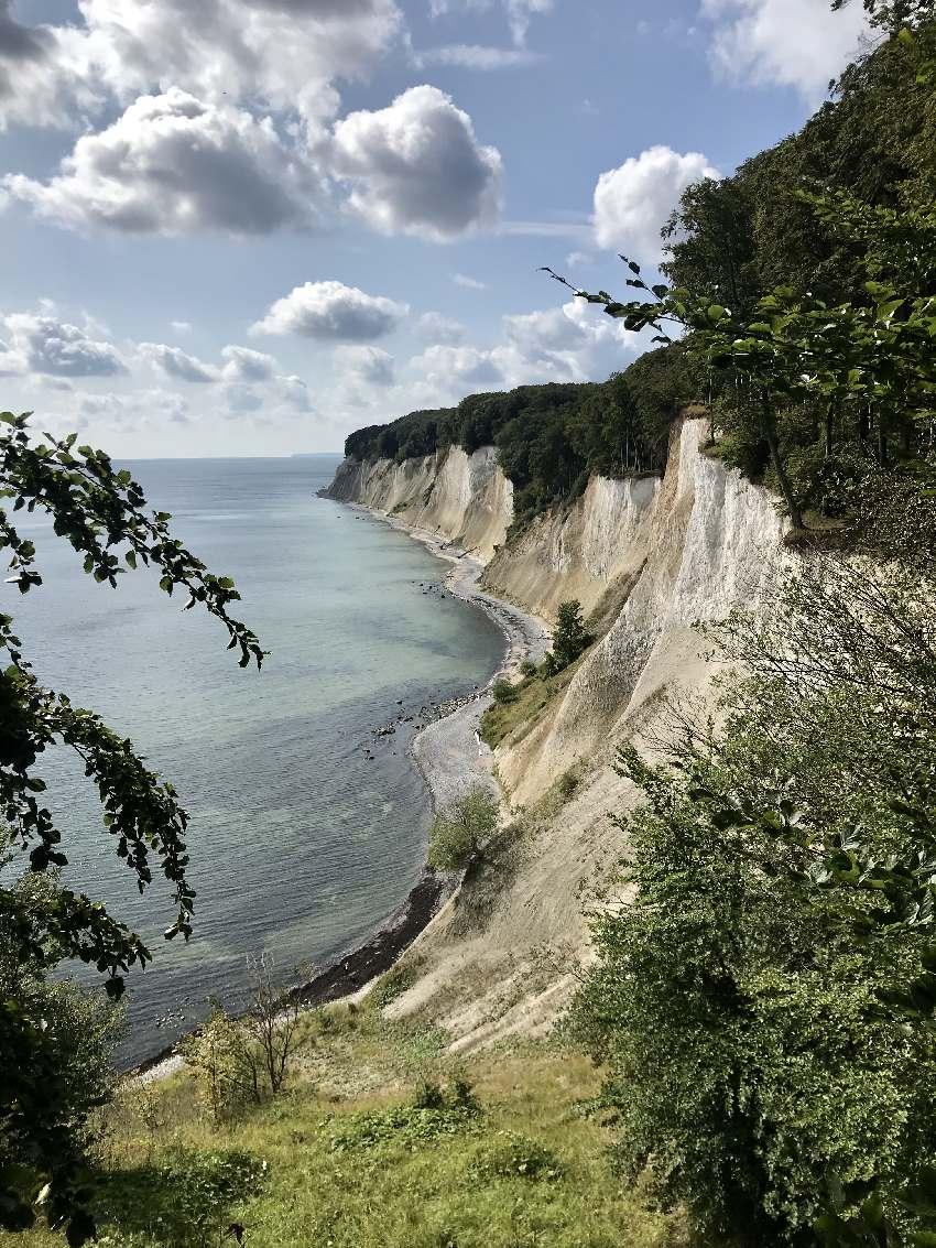 Die berühmten Kreidefelsen in Rügen