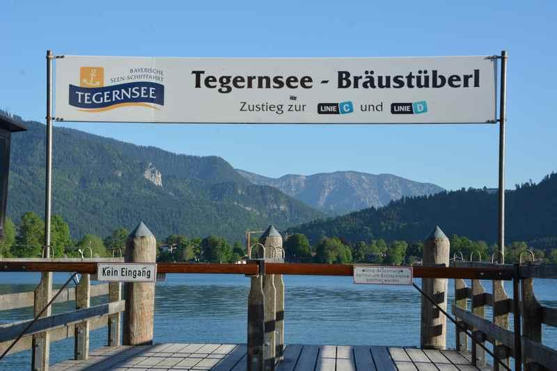 Welcher Gasthof hat schon eine eigene Schiffsanlegestelle? Wir besuchen das Bräustüberl mit dem bekannten bayerischen Essen