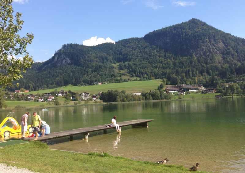 Familienurlaub Thiersee: Baden im Thiersee bei Kufstein in Tirol