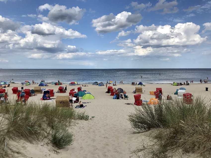 Dafür fahren wir auf die Ostseeinsel Usedom: Strandstrand so weit das Auge reicht!