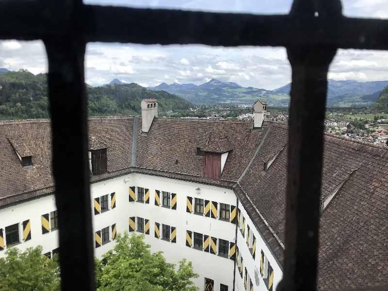 Viel Ausblick von oben aus dem Kaiserturm über die Festung und die Umgebung