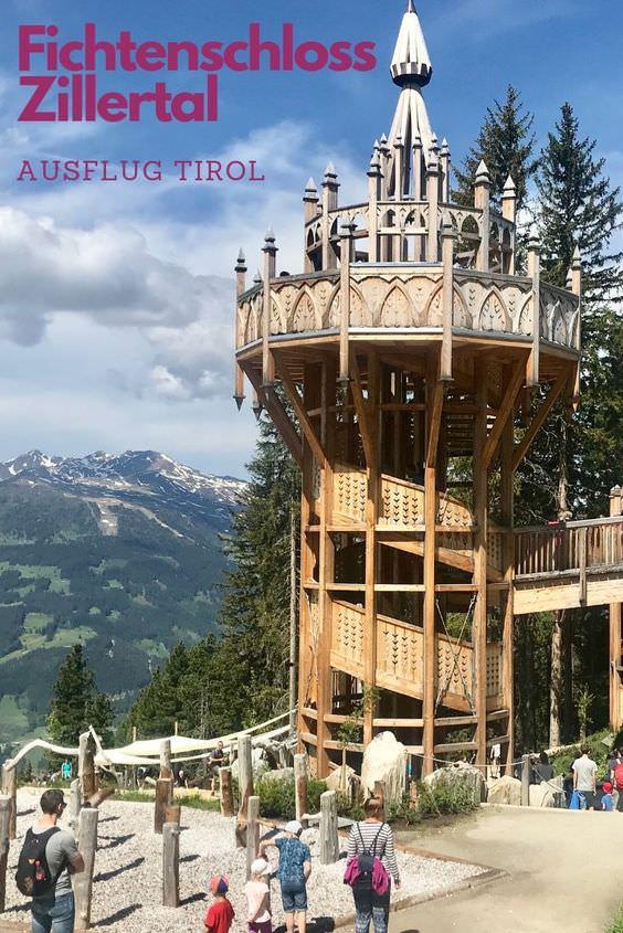 Ausflugsziele Österreich mit Kindern: Das Fichtenschloss im Zillertal ist ein riesiges Freizeitareal in Tirol mit Kindern