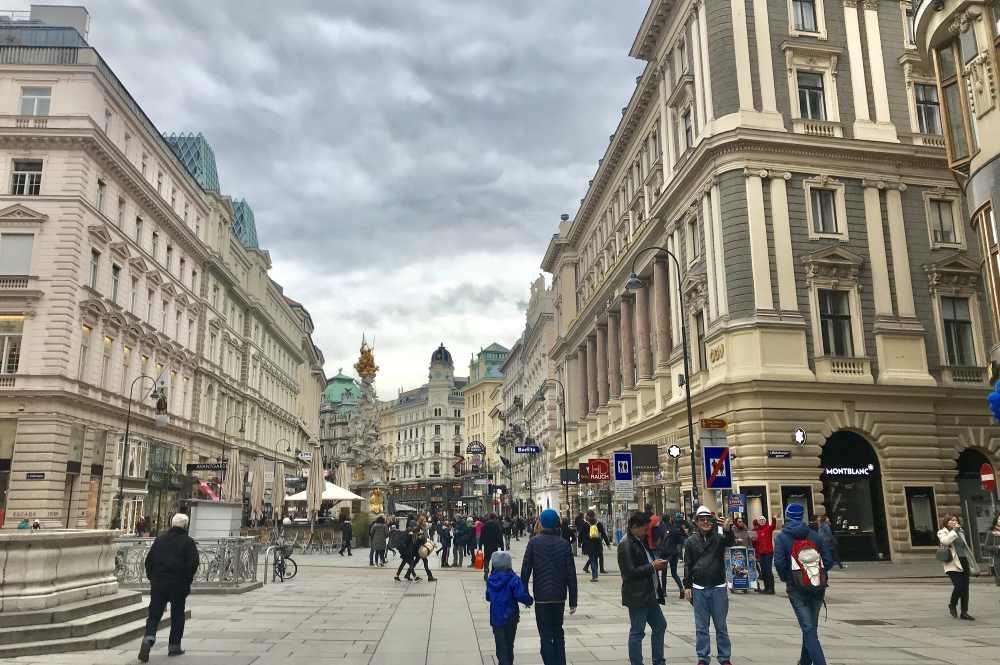 Vom Jufa Hotel Wien: Abstecher in die Fußgängerzone der Wiener Innenstadt