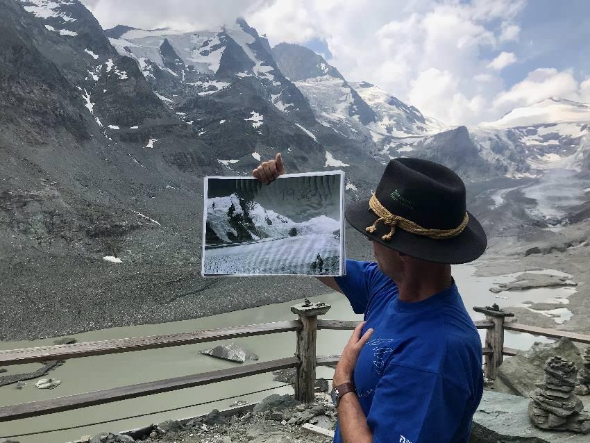 Wo früher das Eis 60 Meter dick war, ist jetzt nur noch Steinwüste und Gletschersee