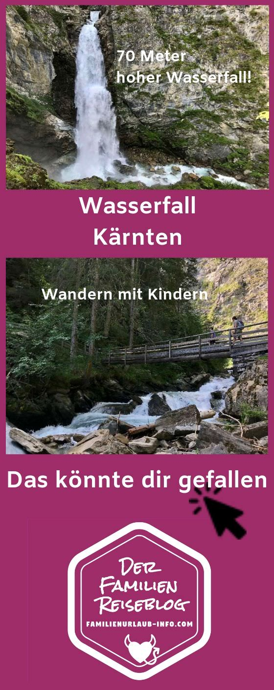 Merk dir diesen Pin vom Wasserfall in Kärnten, so findest du ihn für deine Urlaubsplanung wieder!