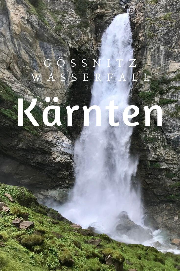 Beeindruckender Wasserfall in Kärnten - der Gößnitz Wasserfall in Heiligenblut
