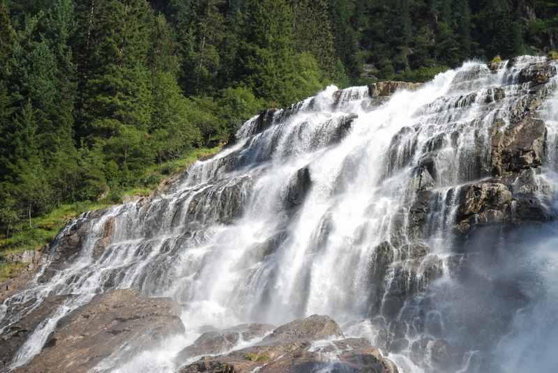 Der Grawa Wasserfall im Stubaital