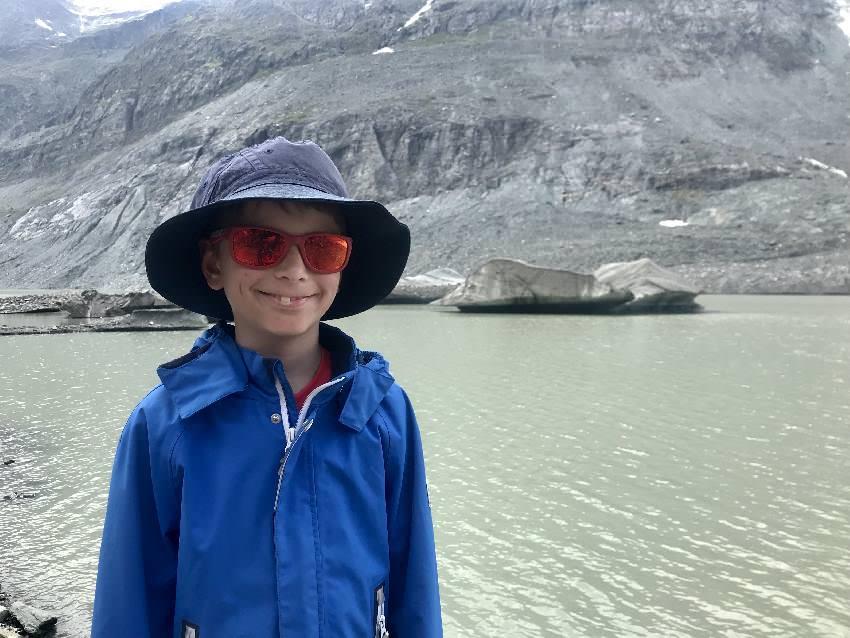 Begeisterung für die Kinder - es gibt Eisinseln! Das musst du dir auch mal anschauen, solange es das noch gibt!