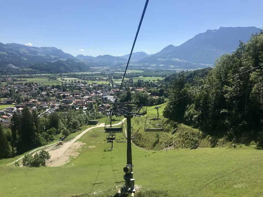 Auffahrt am Erlebnis-Berg Hockeck Oberaudorf mit Kindern