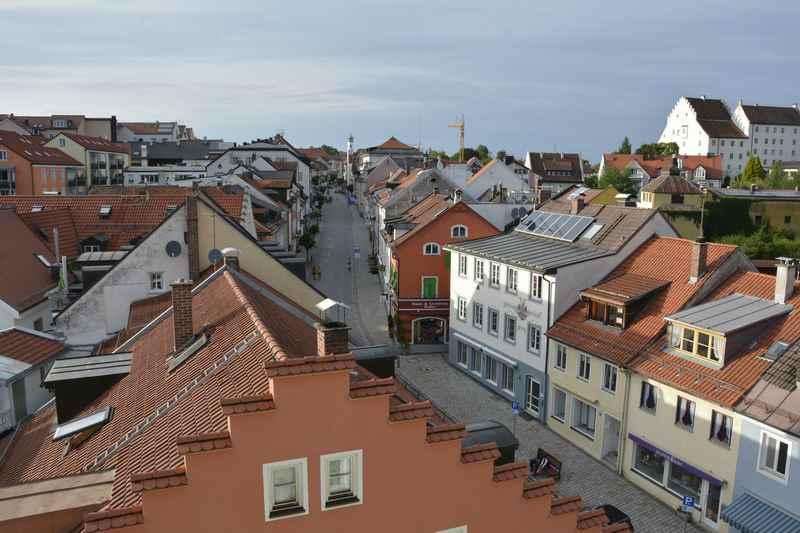 Hotel Angerbräu Murnau - der Blick vom Hotel über die Altstadt Murnau