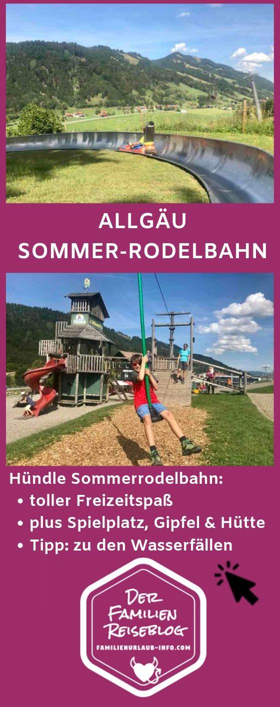Merk dir dieses Ausflugsziel im Allgäu: Sommerrodeln, wandern und Spielplatz mit Einkehr.
