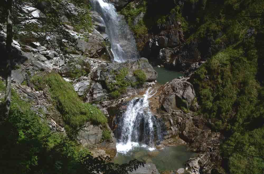 Klamm Kärnten wandern mit Kindern: Hier die Wasserfälle in der Groppensteinschlucht