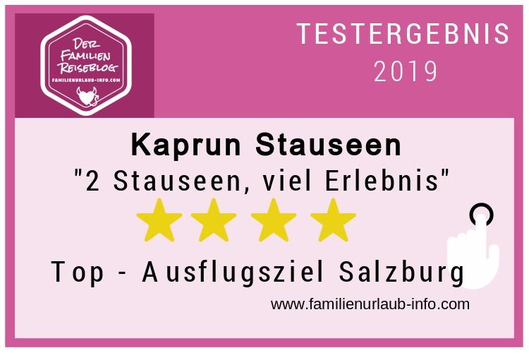 Bewertung Kaprun Stauseen - für uns eines der Top - Ausflugsziele im Salzburger Land