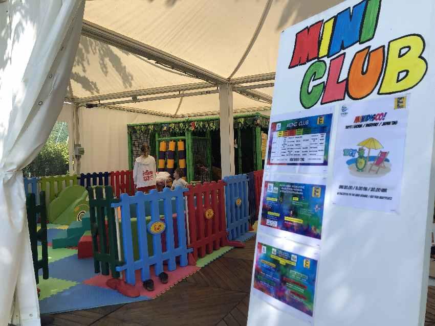 Das Programm der Kinderbetreuung im Europa Village Camping Cavallino
