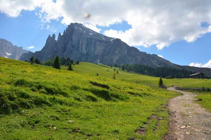 Das war eine schöne Kinderwagen Wanderung auf der Seiseralm in Südtirol