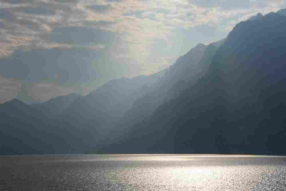 Abends hatten wir noch am See diese tolle Wolkenstimmung