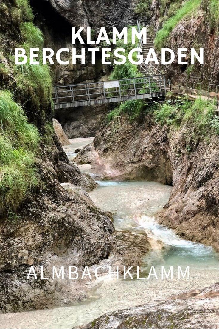 Klamm Bayern: Die Almbachklamm in Marktschellenberg, Berchtesgaden